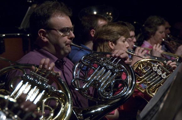 Brass section in concert