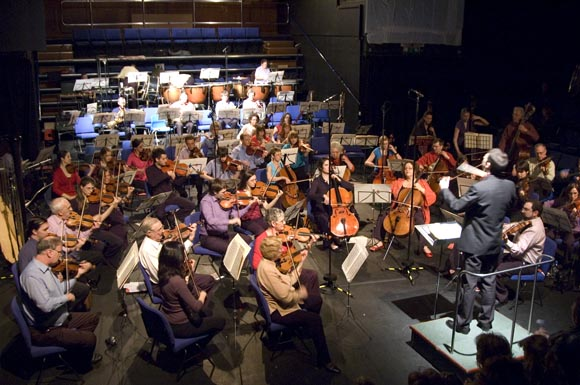 Orchestra practising