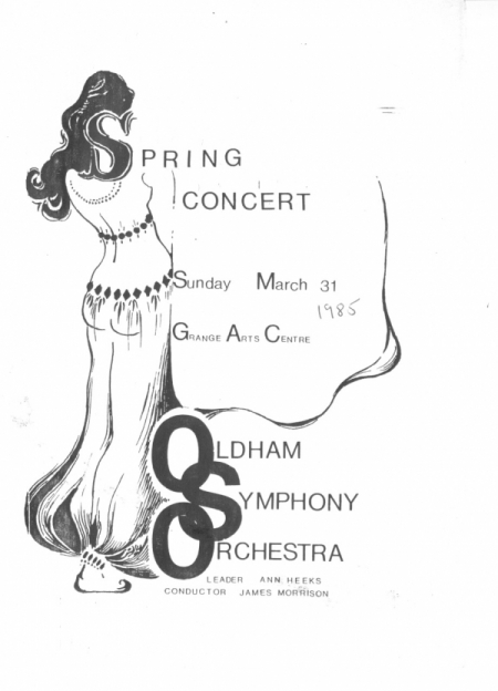 Spring 1985 booklet cover